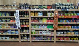 Beer in supermarket Royalty Free Stock Image