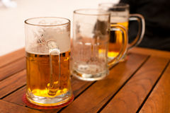 Beer on a table Royalty Free Stock Image
