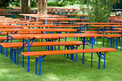 Free Beer Tables And Benches Royalty Free Stock Image - 25798836
