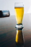 Beer on tabletop Royalty Free Stock Photos