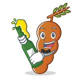 With beer tamarind mascot cartoon style. Vector illustration Stock Photography
