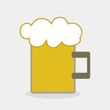 Beer tankard. Design, vector illustration Royalty Free Stock Images
