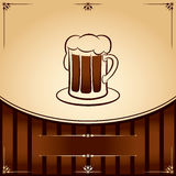 Beer tankard. vector Illustration with place for text Royalty Free Stock Images