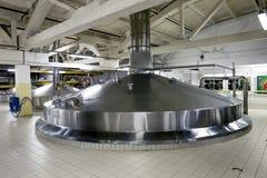 Beer tanks for brewing beer at the Heineken brewery in St. Peter Royalty Free Stock Image