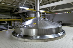Beer tanks for brewing beer at the Heineken brewery in St. Peter Royalty Free Stock Photography