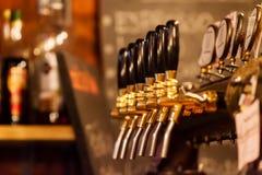 Beer tap array Stock Photos