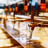 Beer Tap Closeup In Drink Bar Stock Photography