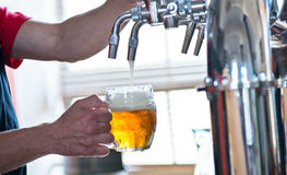 Beer on tap Royalty Free Stock Photography