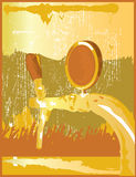 Beer Tap Gold Concert Stock Image