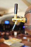 Beer tap inside tavern Stock Photo