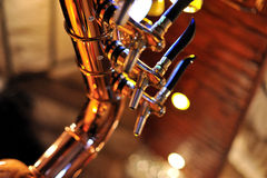 Beer tap isolated Royalty Free Stock Photo
