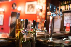 Beer Tap in a Pub Stock Images