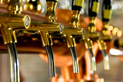 Beer tap. Is a valve, specifically a tap, for controlling the release of beer Stock Photos