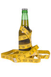 Beer with tape measure Stock Photography
