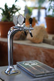 Beer taps. In a restauration Stock Images