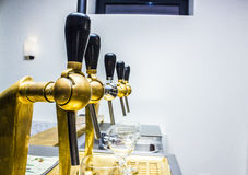 Beer taps array vintage style Stock Image
