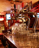 Beer-taps in a bar Royalty Free Stock Image