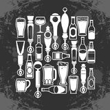 Beer taps icons Royalty Free Stock Photo