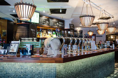 Free Beer Taps In A Finnish Bar Stock Photos - 39179573