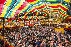 Beer Tent. MUNICH - SEPTEMBER 30: The Hippodrom Beer Tent on the Theresienwiese Oktoberfest fair grounds September 30, 2013 in Munich, Germany. The Hippodrom was Stock Photos