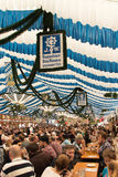 Beer tent at Spring Festival on Theresienwiese in Munich, German Stock Photo