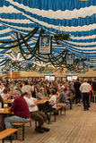 Beer tent at Spring Festival on Theresienwiese in Munich, German Royalty Free Stock Images