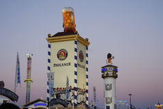 Beer tents at the Oktoberfest. Royalty Free Stock Images