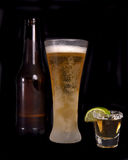 Beer and tequila Stock Photos