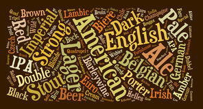 Beer Terms Word Cloud Background. A word cloud made from beer words and terminology Stock Photos