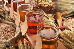 Beer testing Royalty Free Stock Photography