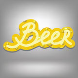 Beer text Royalty Free Stock Image