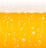 Beer texture with bubbles and foam Stock Images
