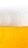Beer texture. With droplets and foam Royalty Free Stock Photos