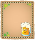 Beer theme parchment 1 Royalty Free Stock Images