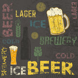 Beer theme retro poster Royalty Free Stock Image