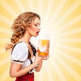 Beer thirst. Stock Images