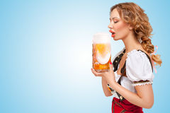 Beer thirst. Stock Image