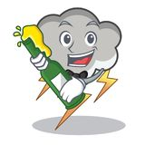 With beer thunder cloud character cartoon Stock Photography