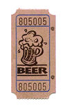 Beer Ticket. Sales-ticket for buying ale Stock Photography