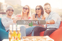 Beer time. Stock Photo