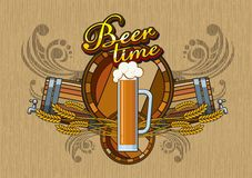 Beer time Stock Image