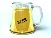 Beer time1. Glass jar with cool beer Royalty Free Stock Image