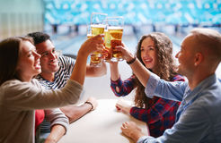 Beer toast Stock Images