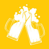 Beer toast splash Stock Images