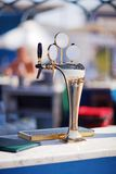 Beer Tower at the bar on the beach Stock Photography
