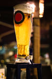 Beer Tower. A chilled tall beer tower with blank label that could be used Stock Images