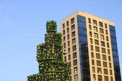 Beer tree in Gijon, Spain Stock Photo
