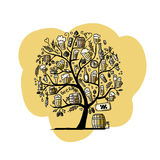 Beer tree, sketch for your design Stock Photography