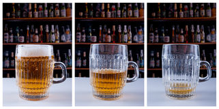 Beer triptych Stock Photo