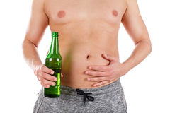 Beer tummy Royalty Free Stock Photography